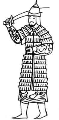 Рис. 15. Персидский воин в ламеллярном доспехе. Пер-сидская миниатюра, 1330 1340-е гг.